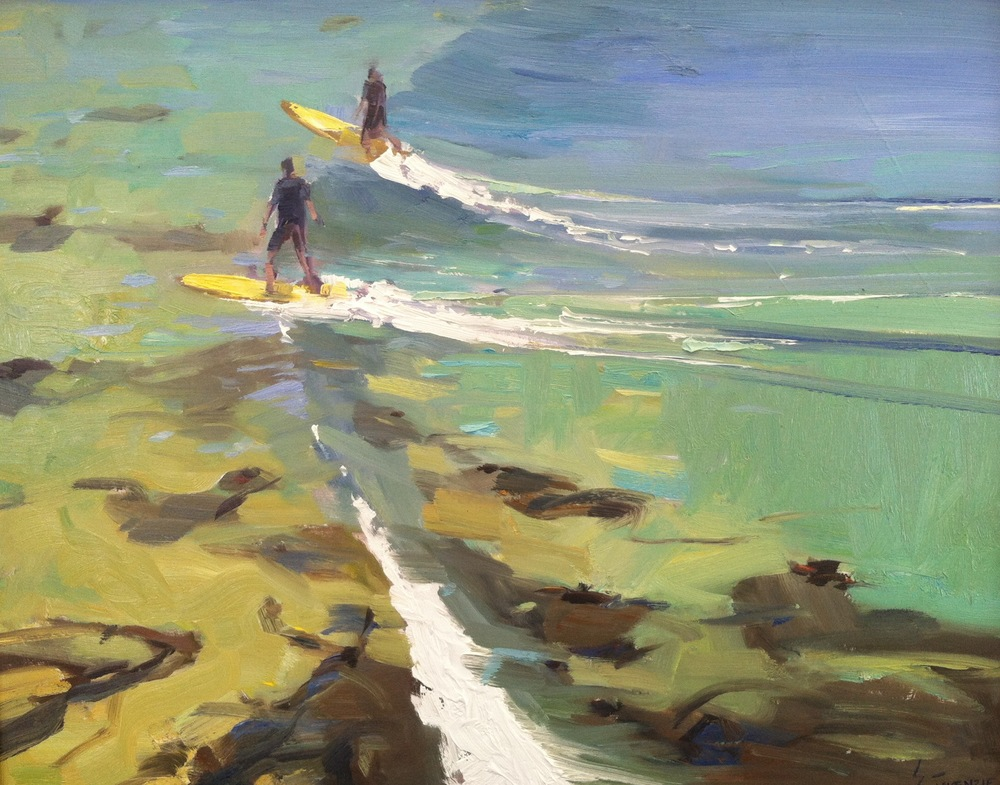 """Catch a Wave"" 16x20, Oil."