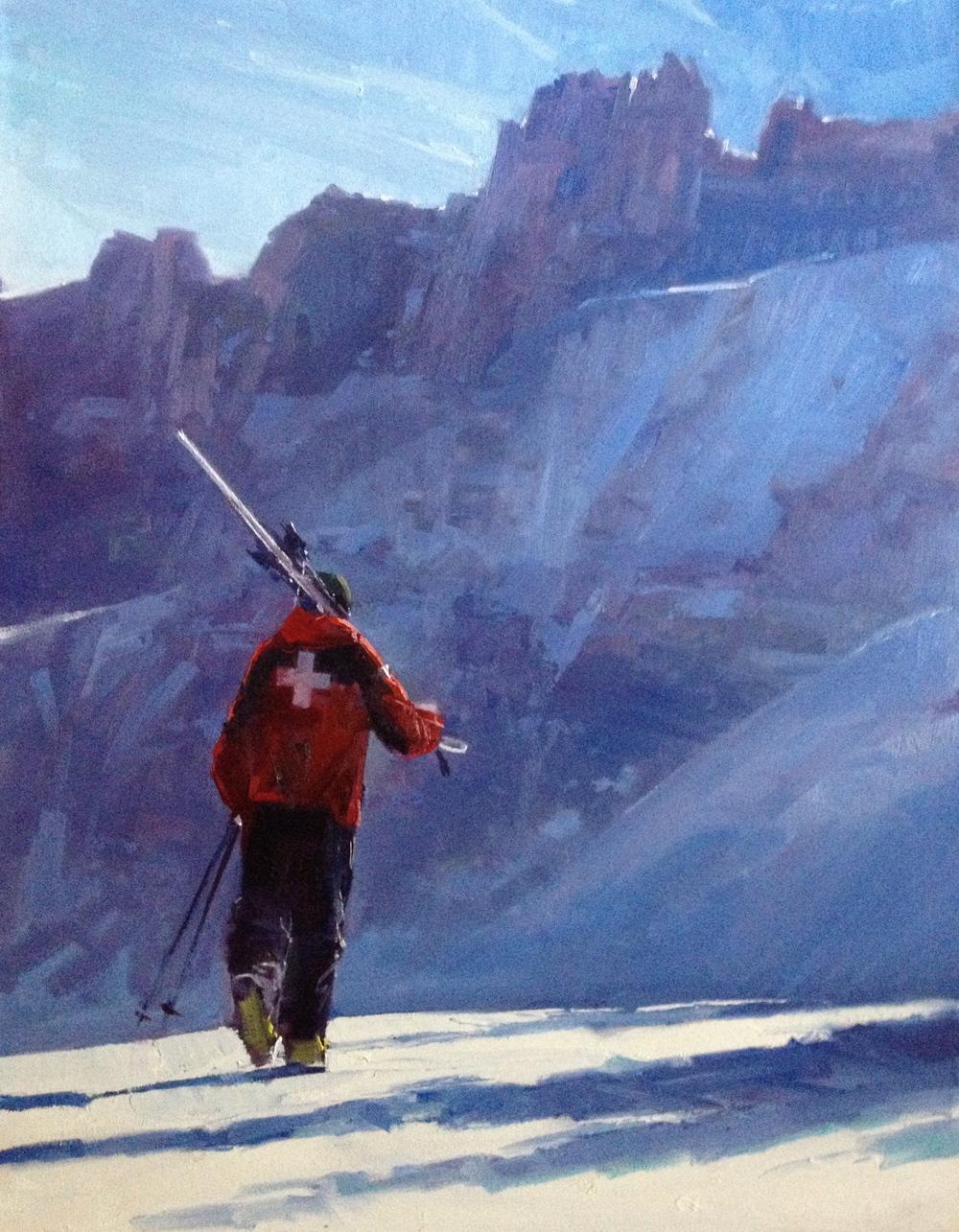 """To the Peak"" 24x30, Elinoff Gallery."