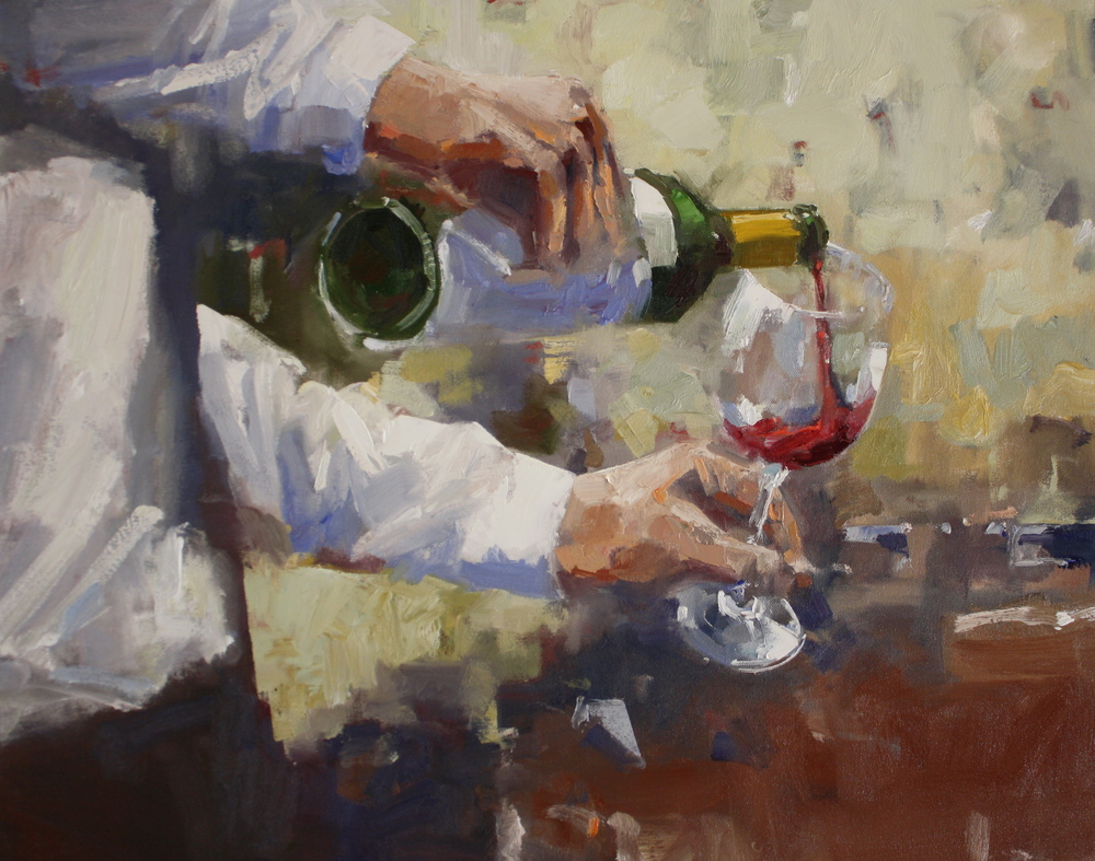 """The Tasting Room"" 24x30, Lee Youngman Gallery."