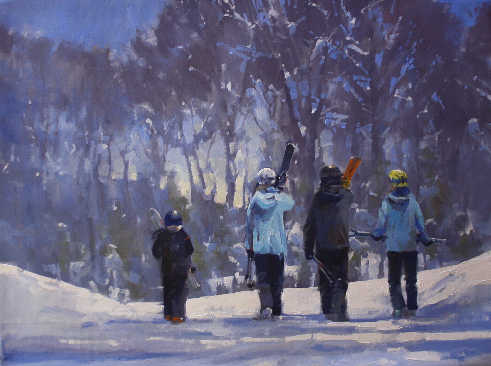 """East Coast Skiers"" 30x40, Commission."