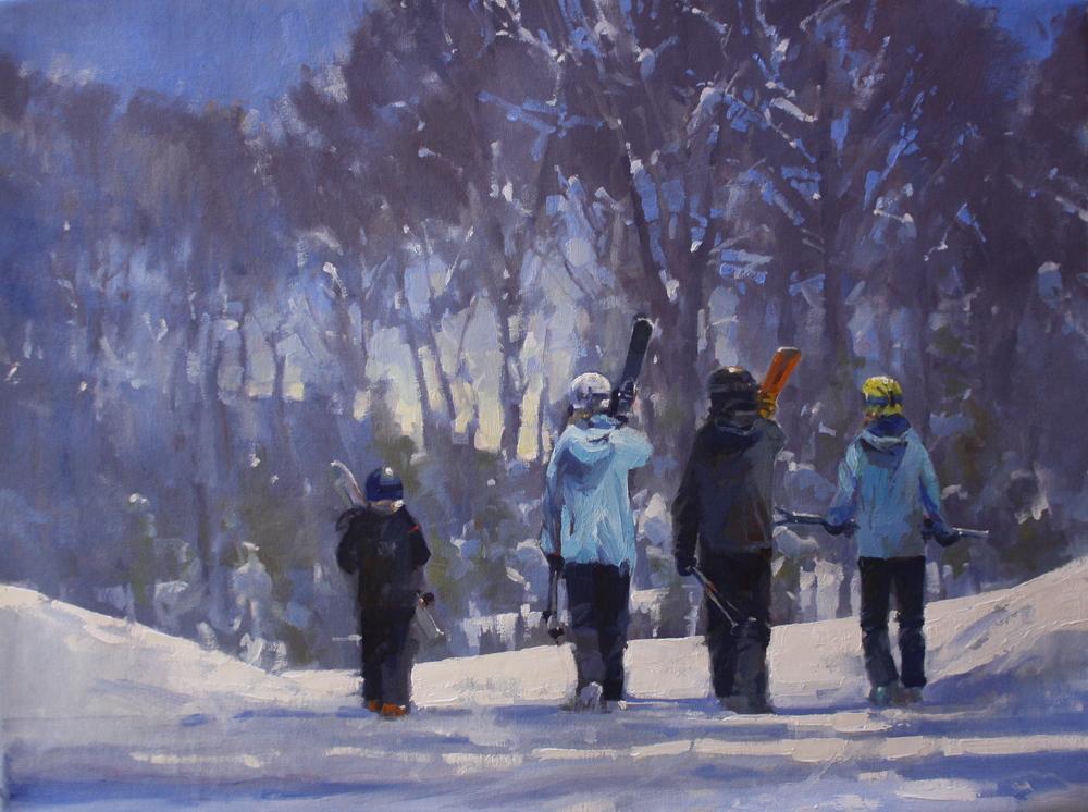 """""""East Coast Skiers"""" 30x40, Commission."""