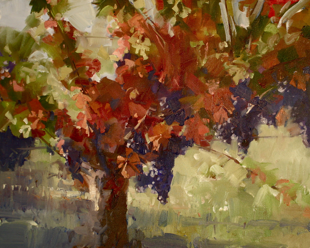 """""""Magic in the Vineyards"""" 16x20, Lee Youngman Gallery."""