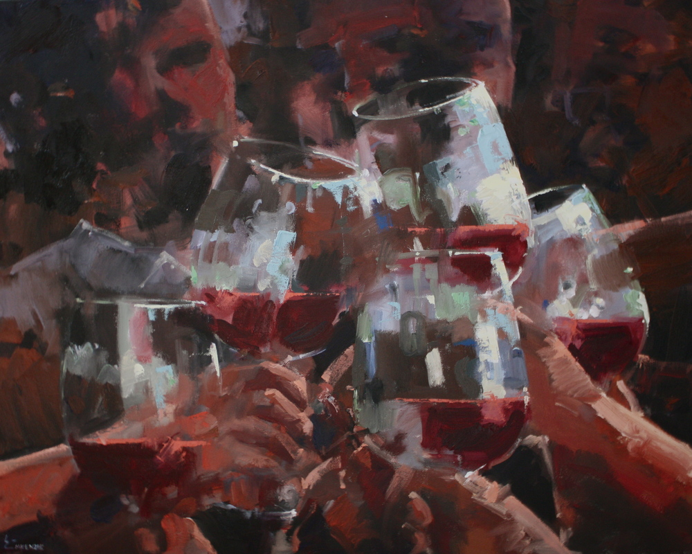 """With Friends"" 24x30, Elinoff Gallery."