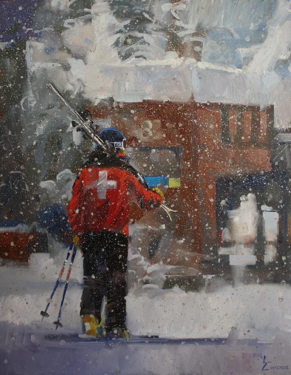 """""""Heavy Snow"""" 16x20, Oil."""