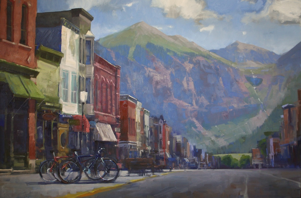"""Down on Main Street""40x60, $8500."
