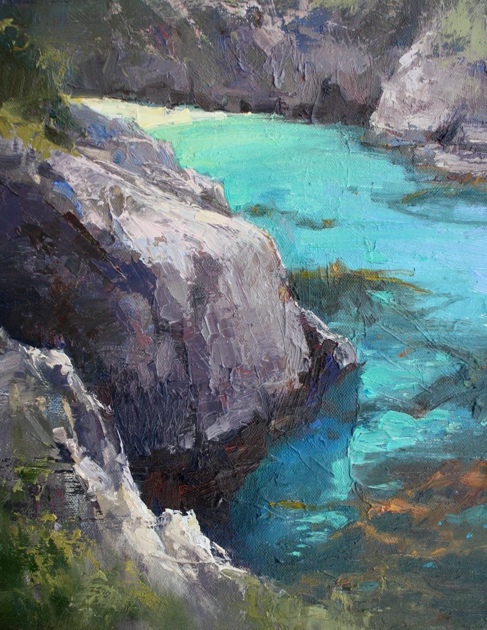 """""""China Cove III"""" 11x14, Nancy Dodds Gallery."""