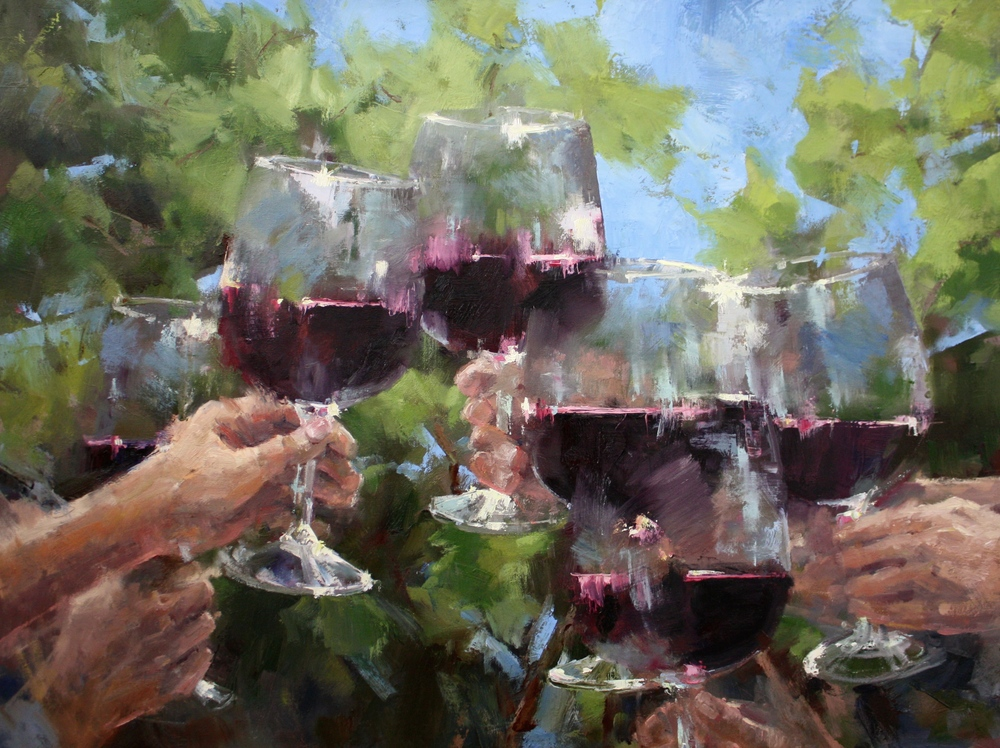 """Amongst the Vines""30x40, $5000."