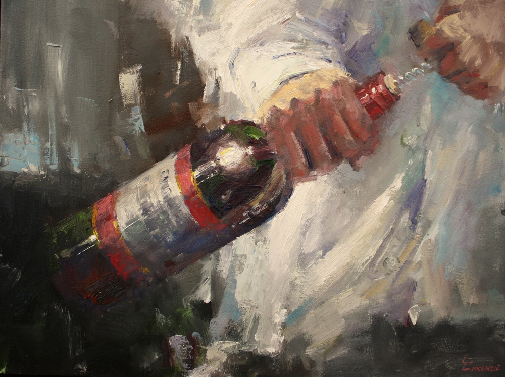 """Uncorked""18x24, Lee Youngman Gallery."