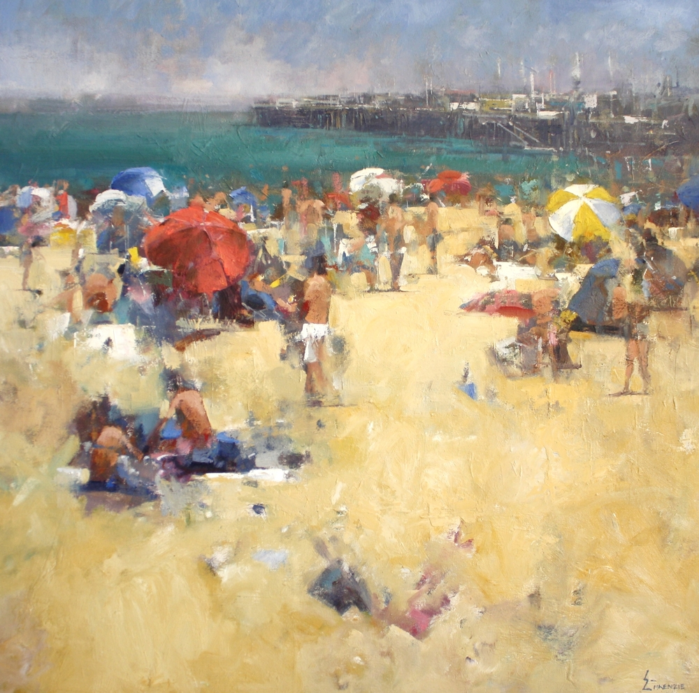 """Santa Cruz Saturday""40x40,Oil."