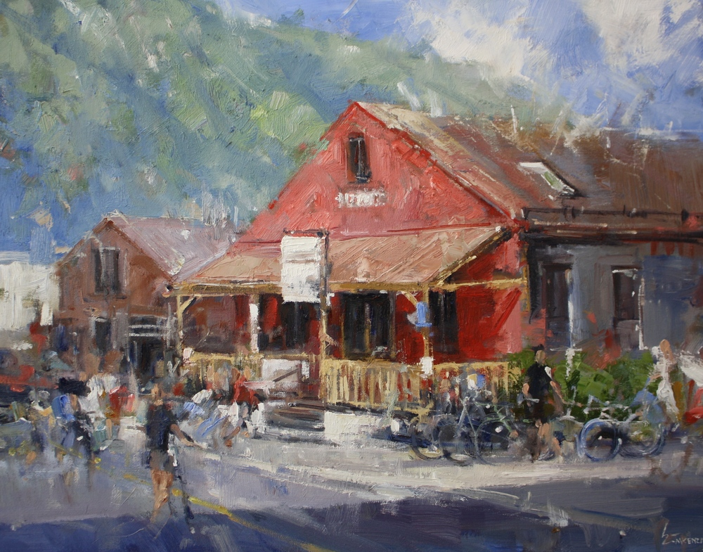 """""""Baked In Telluride""""22x28, Elinoff Gallery."""