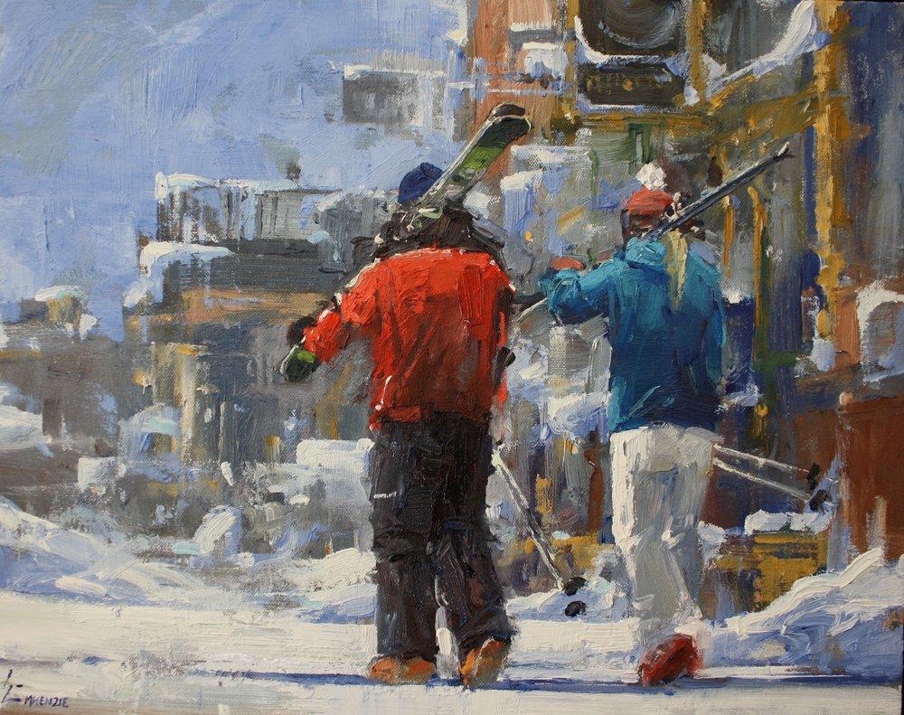 """Ski Date""16x20,Main Street Gallery."