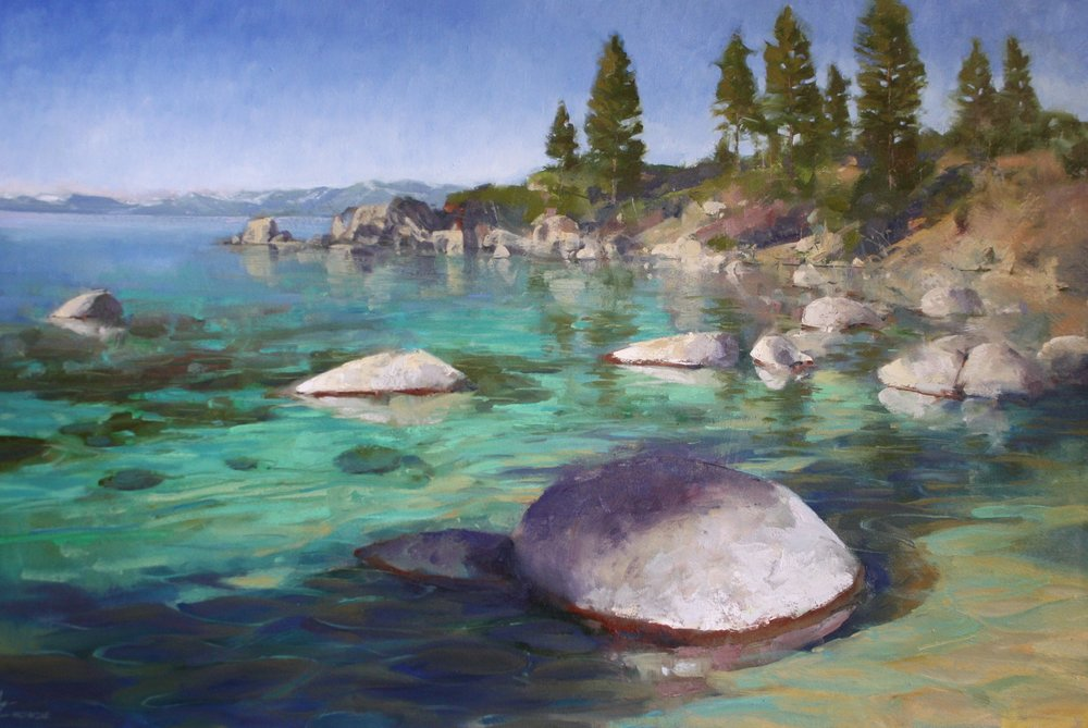"""Tahoe Shadows"" 40x60, Oil on Canvas."
