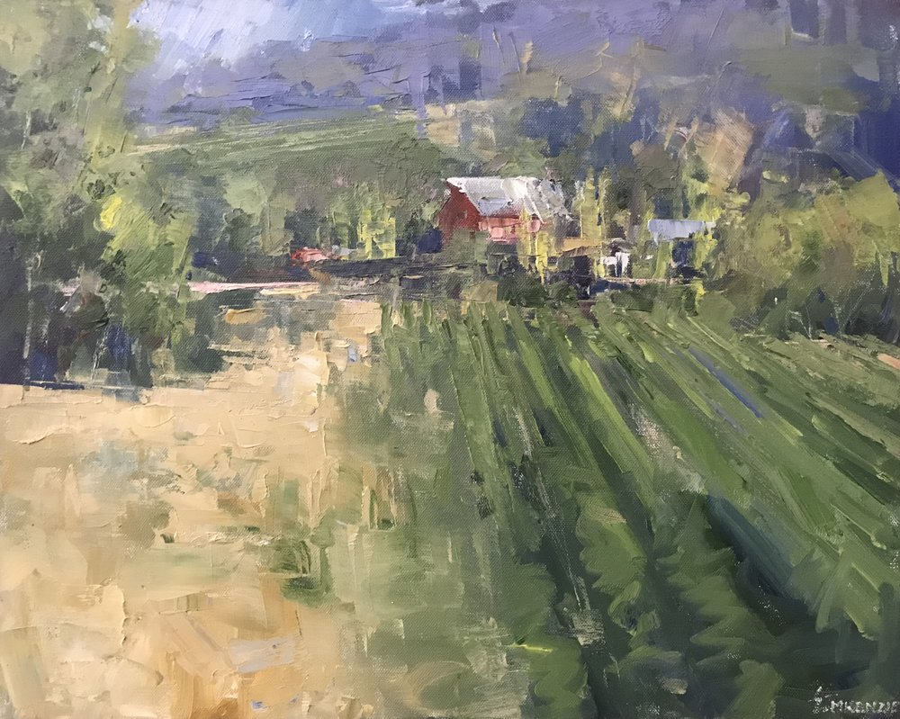 """Wine Country"" 16x20, $1800."