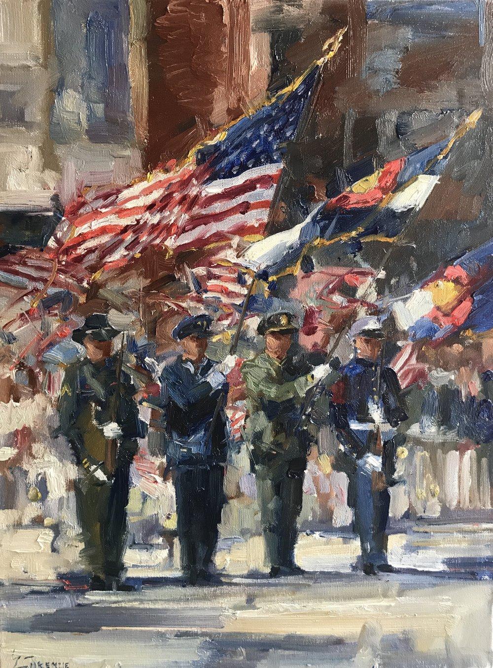 """American Pride"" 18x24, $2200."