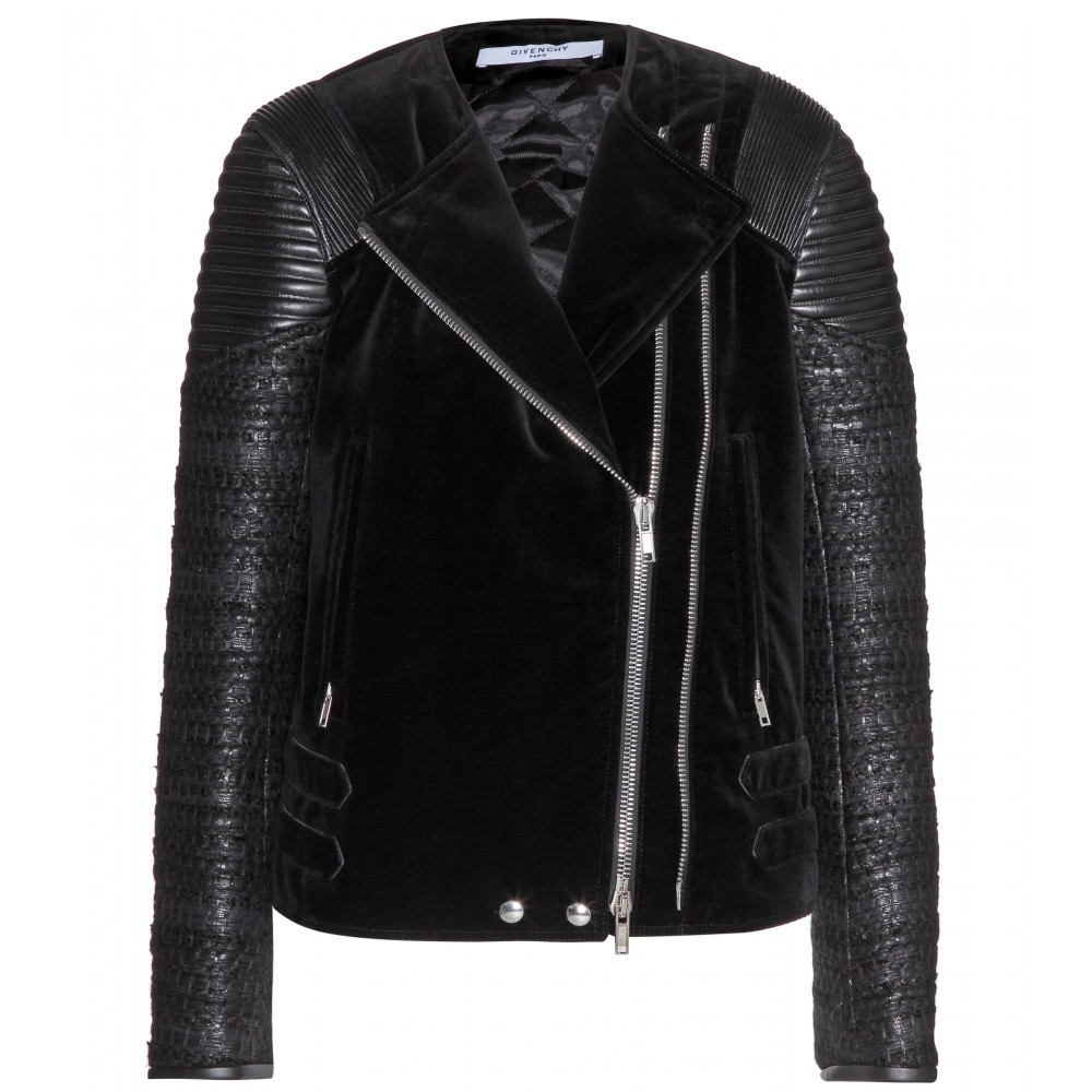 Givenchy Leather Velvet Jacket