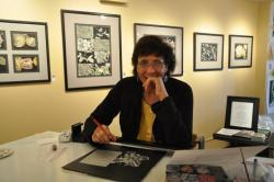 Lisa Goesling at the Merchandise Mart studio