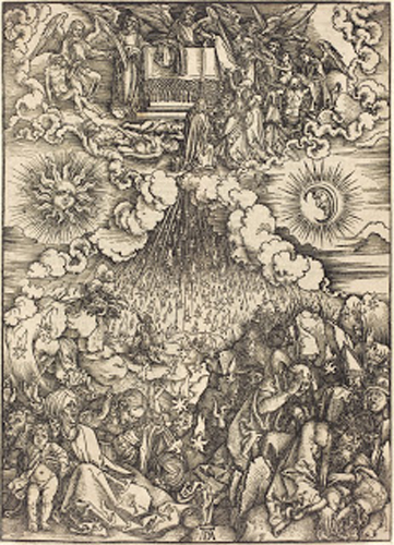 The Opening of the Fifth and Sixth Seals, Albrecht Durer, woodcut on laid paper, c 1497