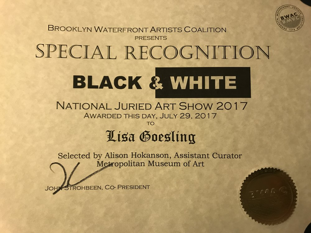 Awarded by Assistant Curator, Metropolitan Museum of Art