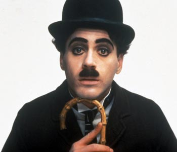 Robert Downey, Jr. as Charlie Chaplin.