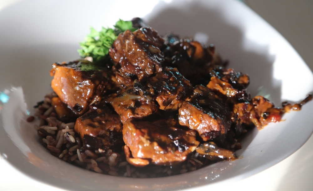 Boeuf bourguignon with rice