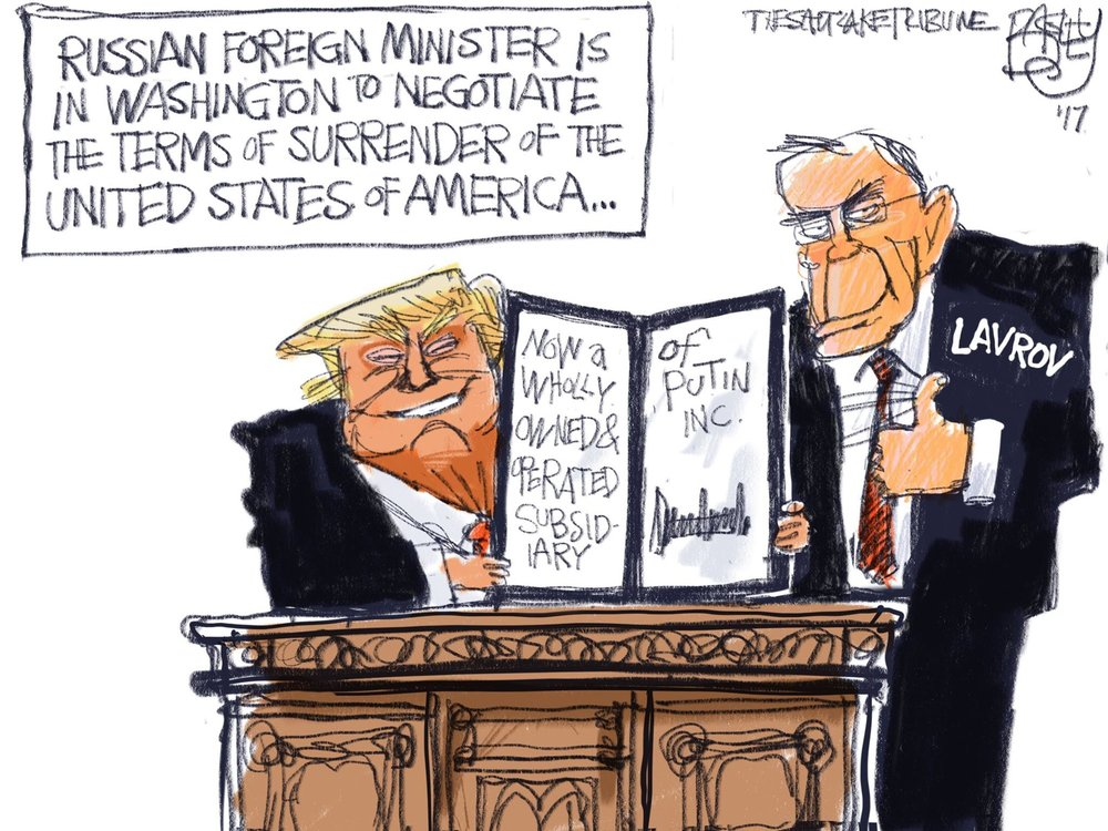 Cartoon by Pat Bagley, published in the Salt Lake Tribune 10 May 2017