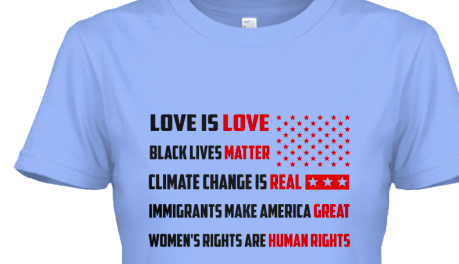 """all the causes"" t-shirt."