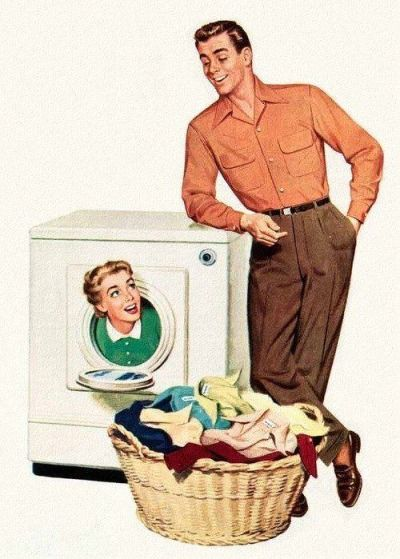 Keeping women in the dryer won't make you a man...