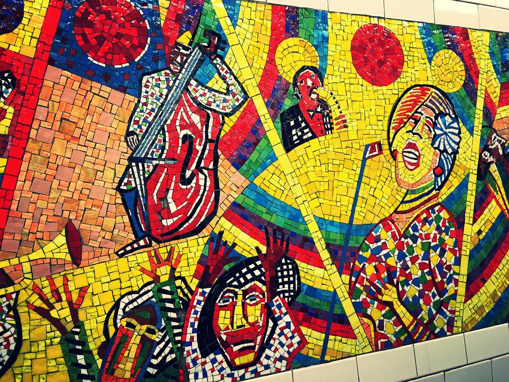 I heart subway mosaic art.
