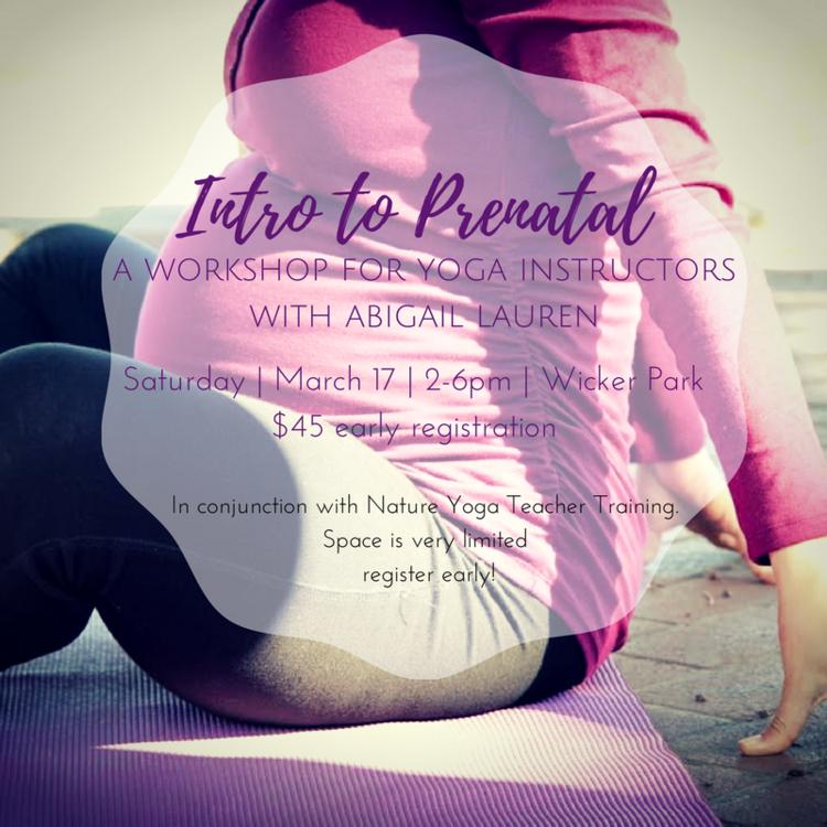 Prenatal for Yoga Teachers — Nature Yoga Sanctuary