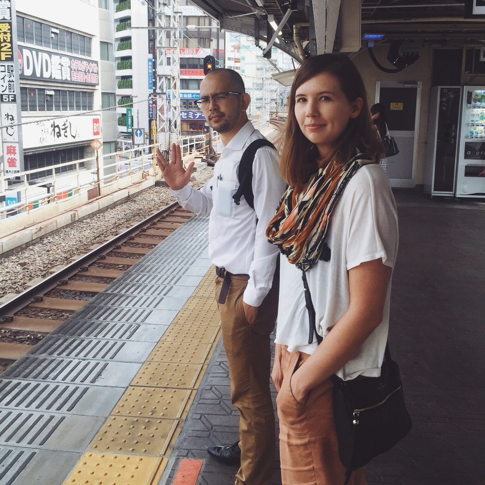 Ryo, our trekkie Couchsurfing host, guides us through the giant Tokyo metro system.