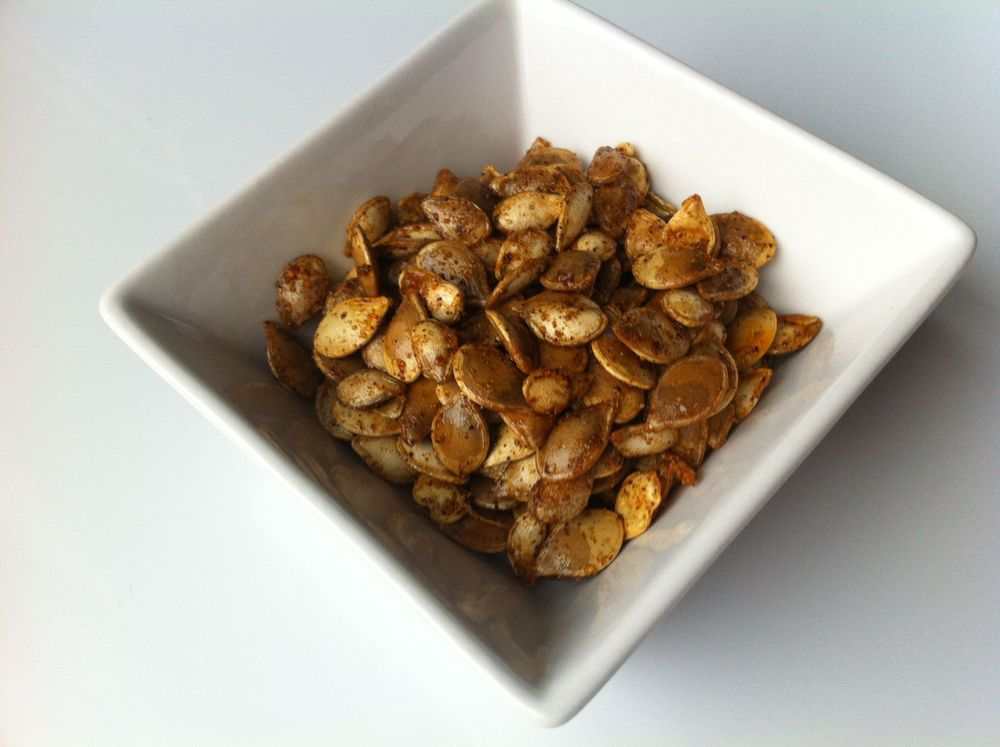 Roasted Squash Seeds with Moroccan Spices