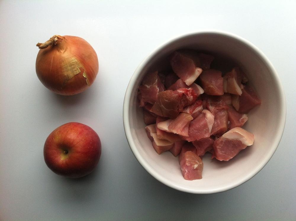 Pork, Apple and Onion