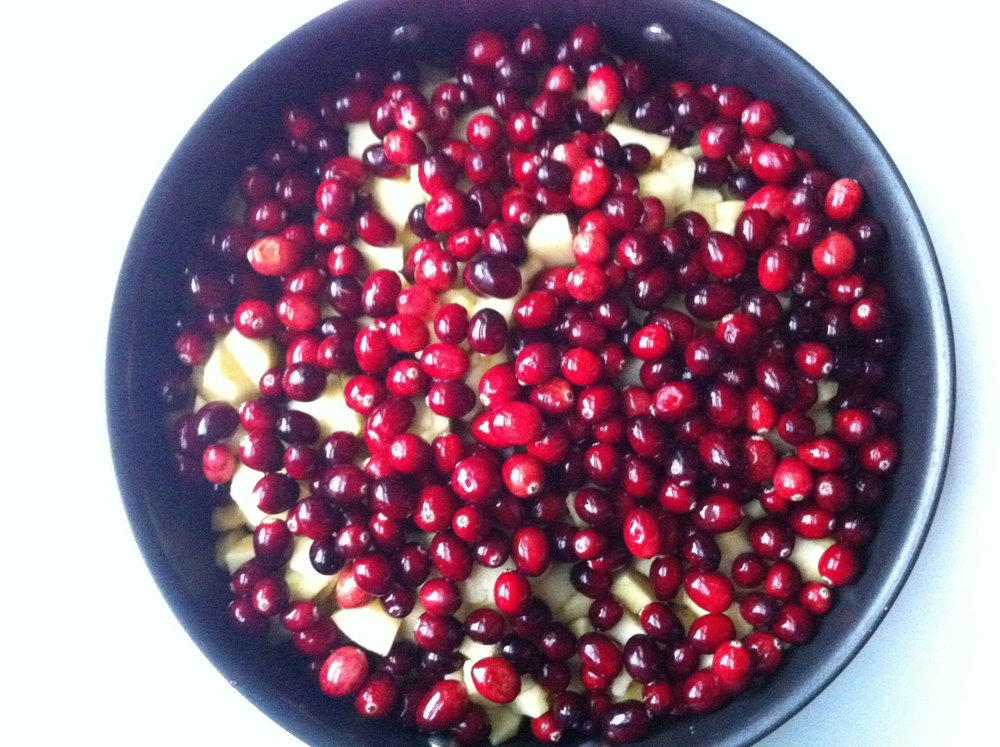 Cranberries and Apples ready for cooking
