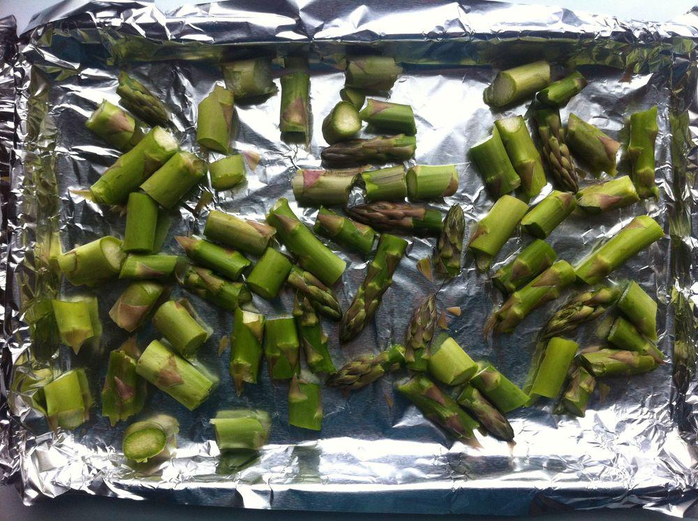 Asparagus ready for roasting
