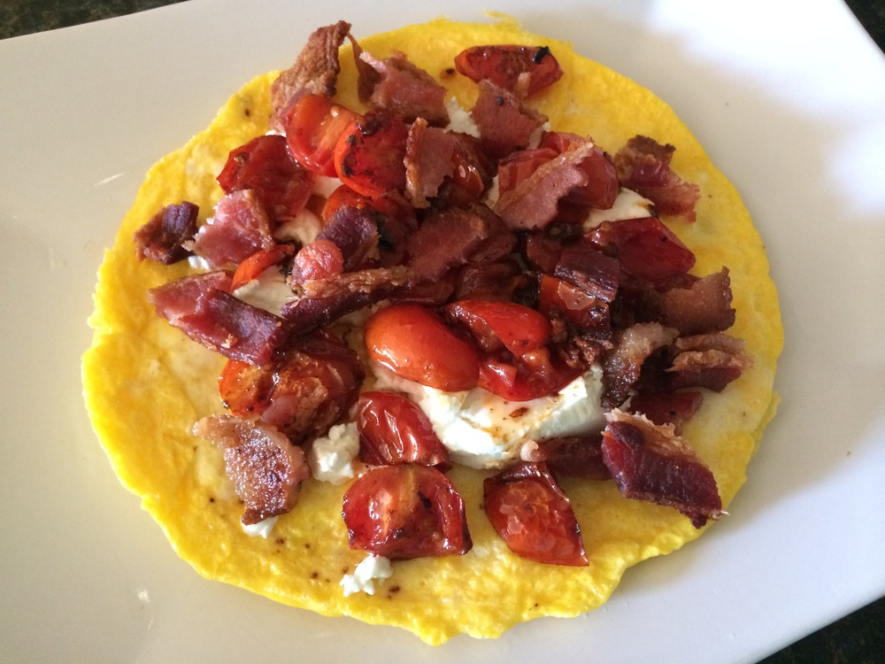 What I Ate: Breakfast 7/24/15 - Open faced omelette at home