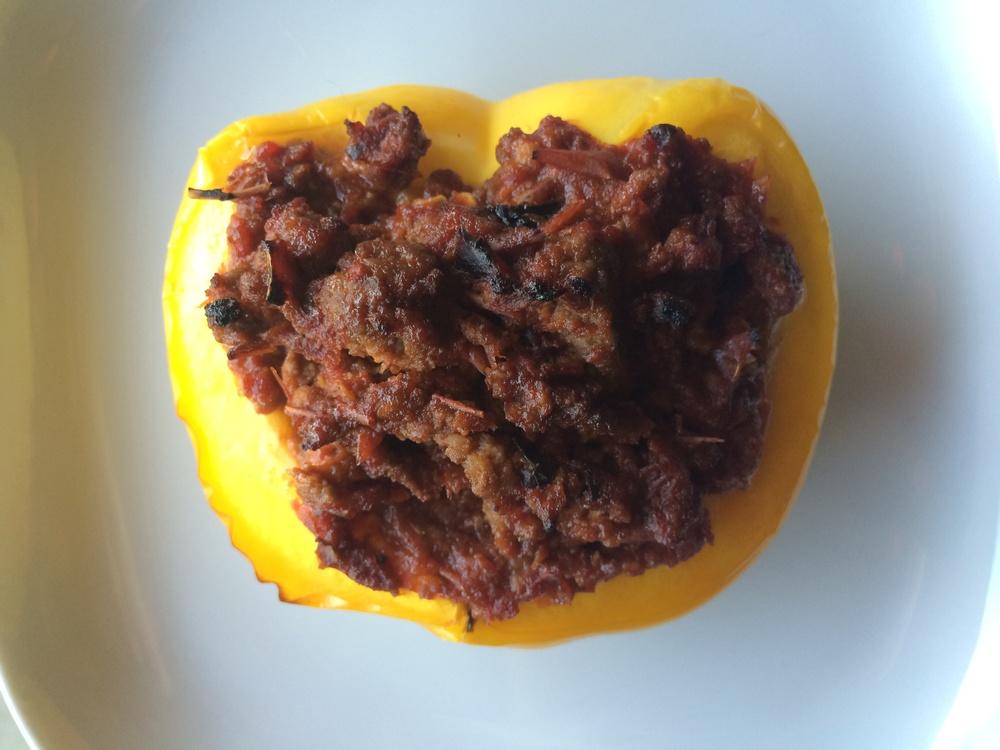What I Ate: Dinner 7/28/15 - Stuffed Pepper