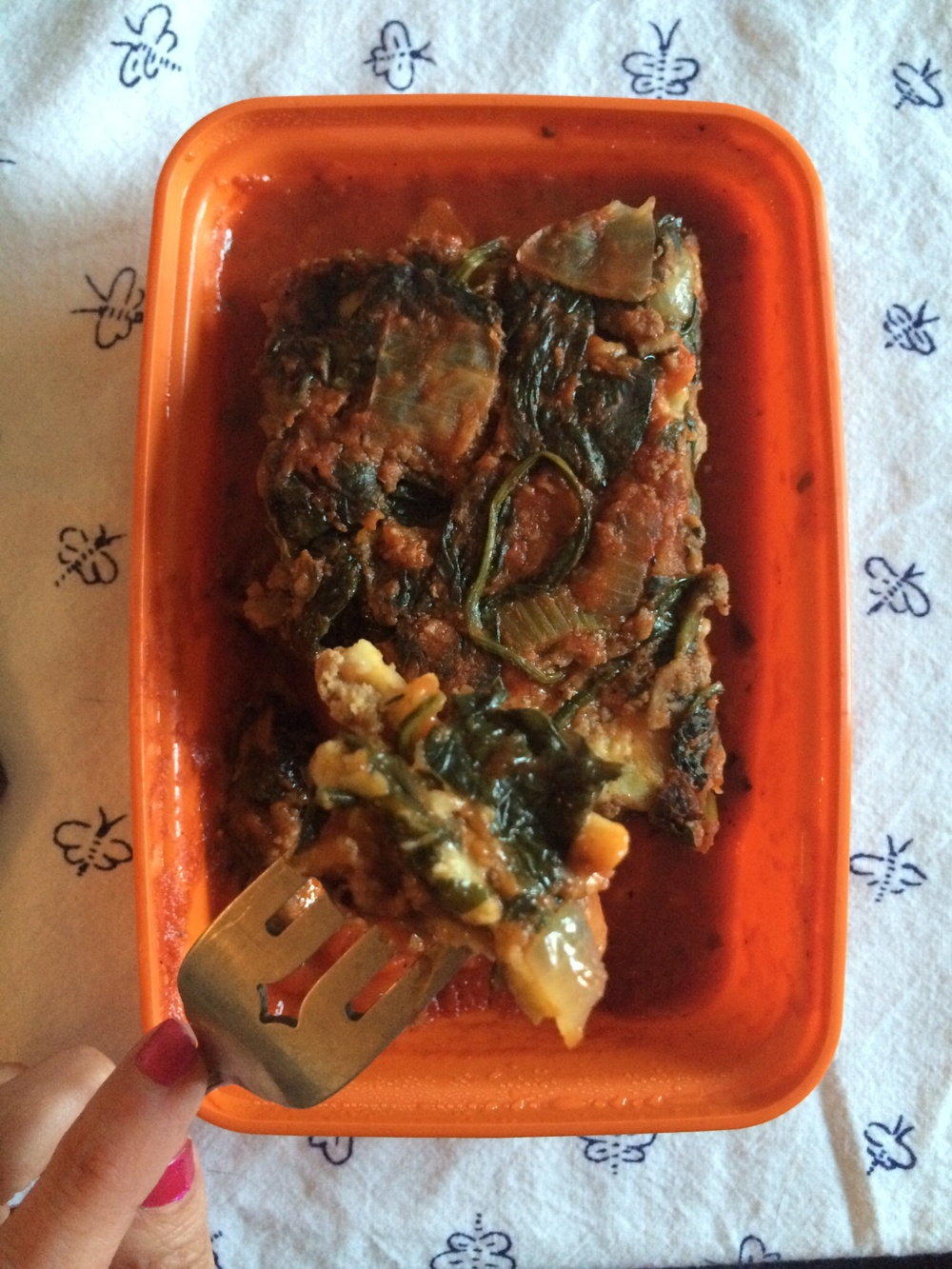 What I Ate: Dinner 8/8/15 - Lamb Lasagna (Snap Kitchen)