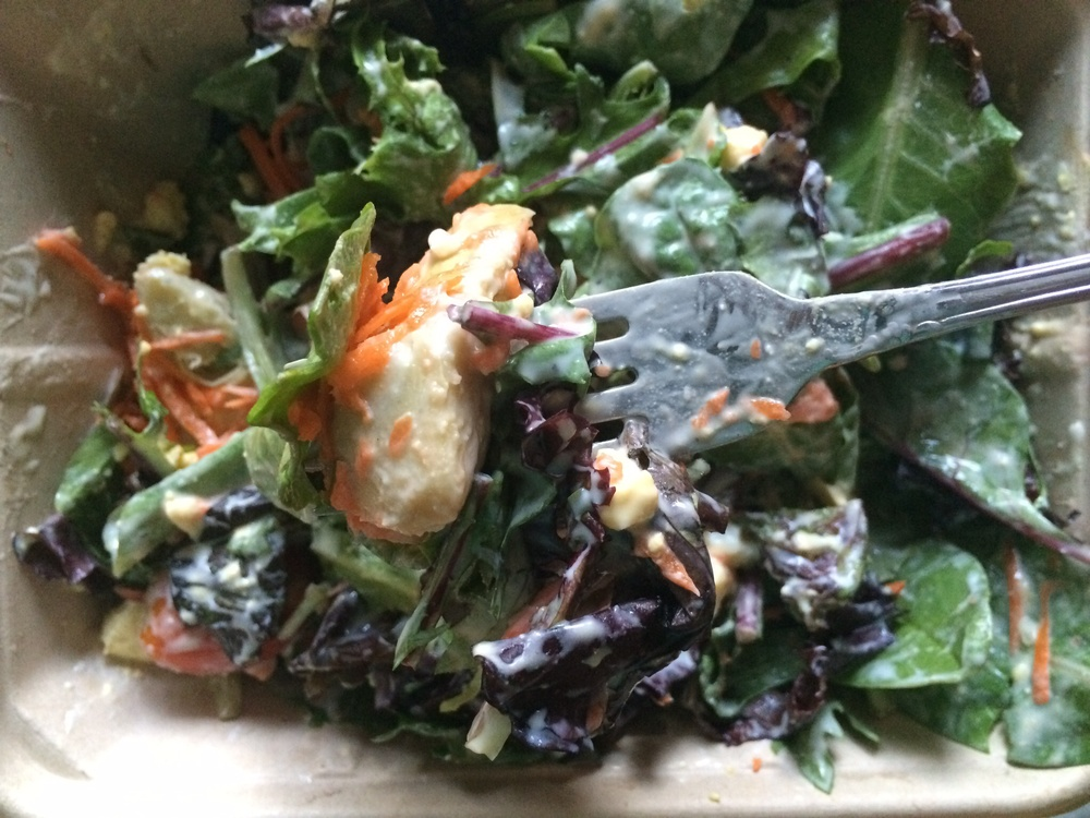 What I Ate: Dinner 8/16/15 - A salad from Whole Foods