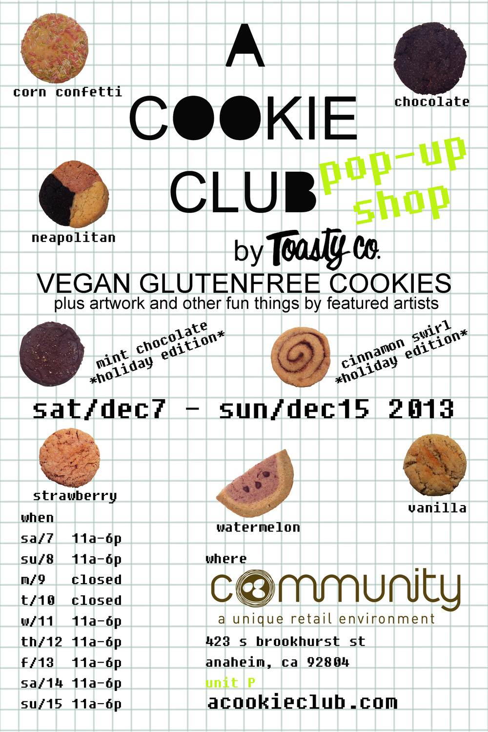 POP UP flyer December 2013