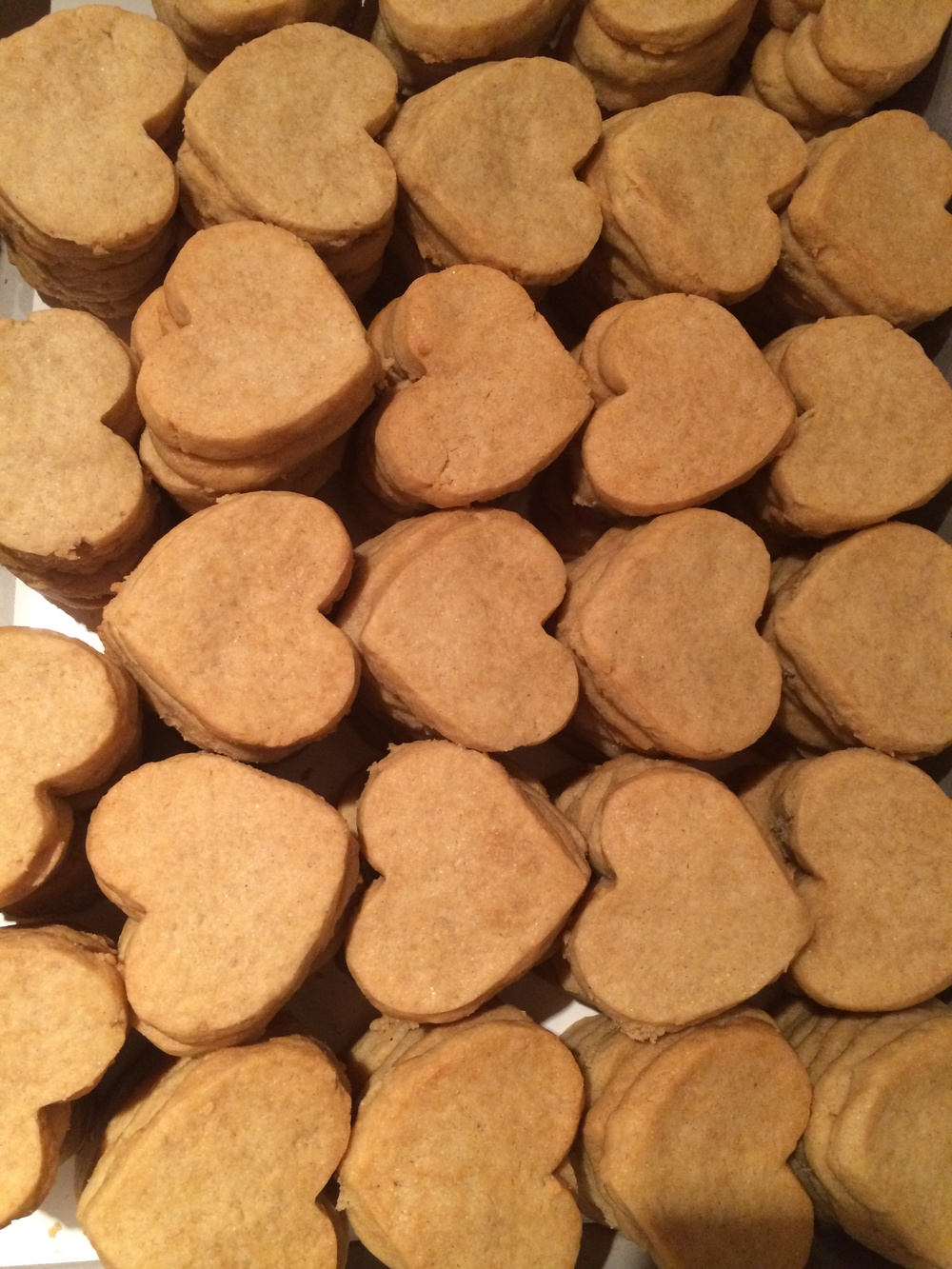 less is more - original vanilla bean flavored heart shaped cookies VEGAN / GLUTENFREE valentines day 2013