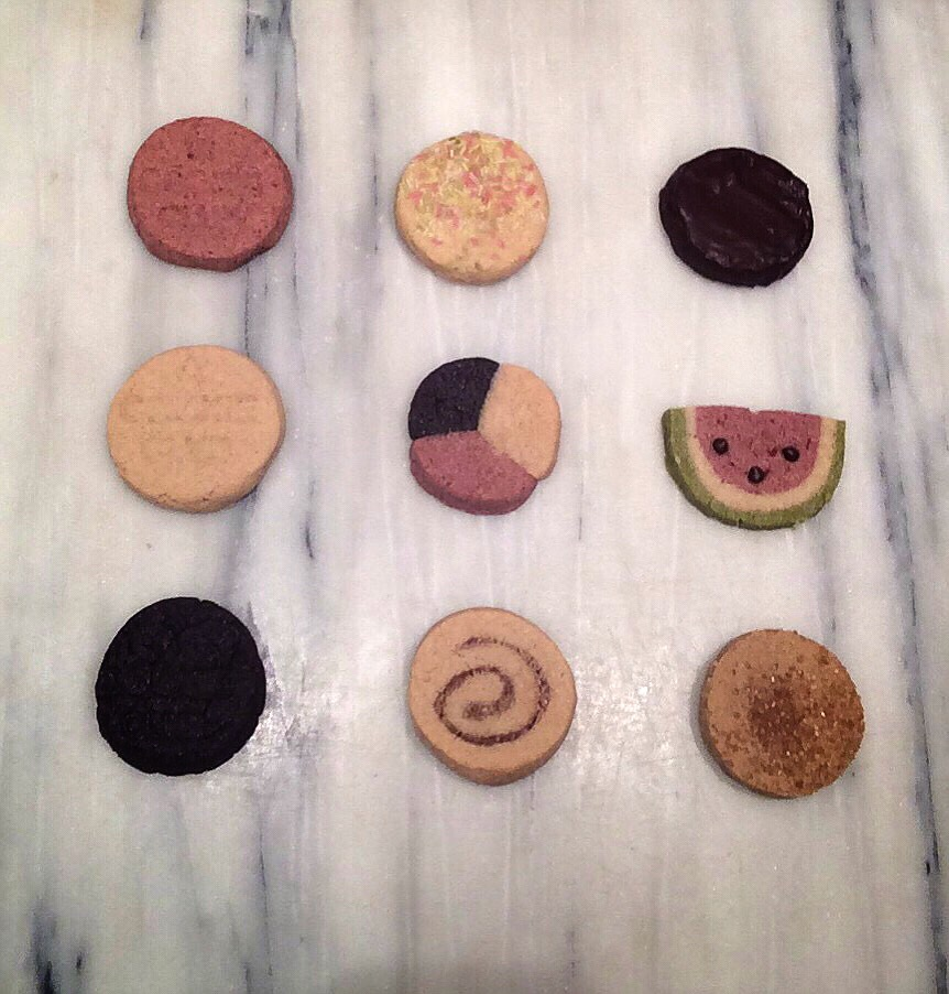 special edition holiday pack L to R, top to bottom:  strawberry / corn confetti / thick mint  vanilla / neapolitan / watermelon (strawberry/almond/green tea)  chocolate / cinnamon swirl / pumpkin spice  VEGAN / GLUTENFREE holiday 2014
