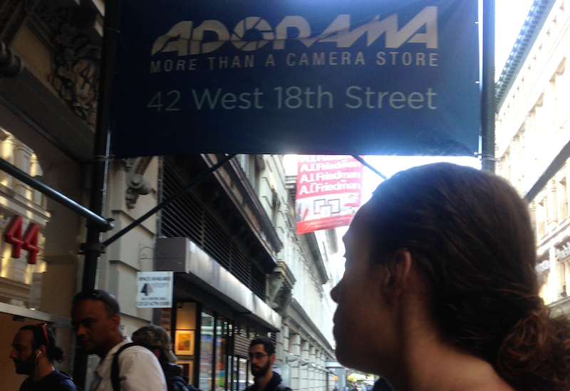 we were the only women at adorama that morning