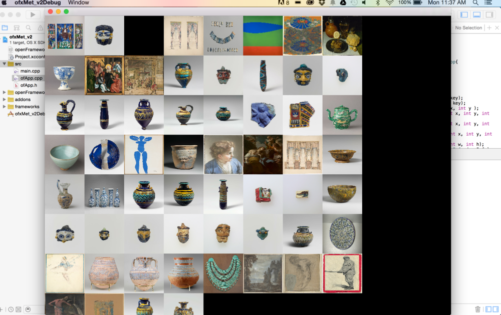 "Here is an example of searching ""blue"" in the Met's digital collection."