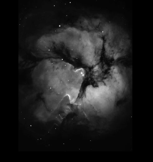 Image of molecular cloud in space.