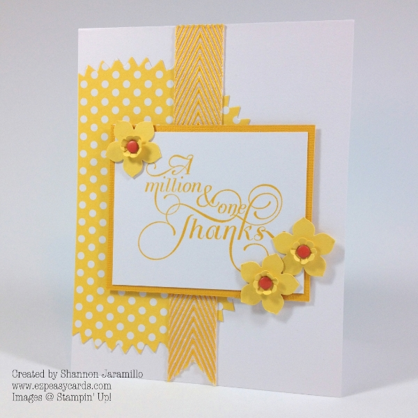 Clean and Simple Saturday - Daffodil Thanks - FMS133