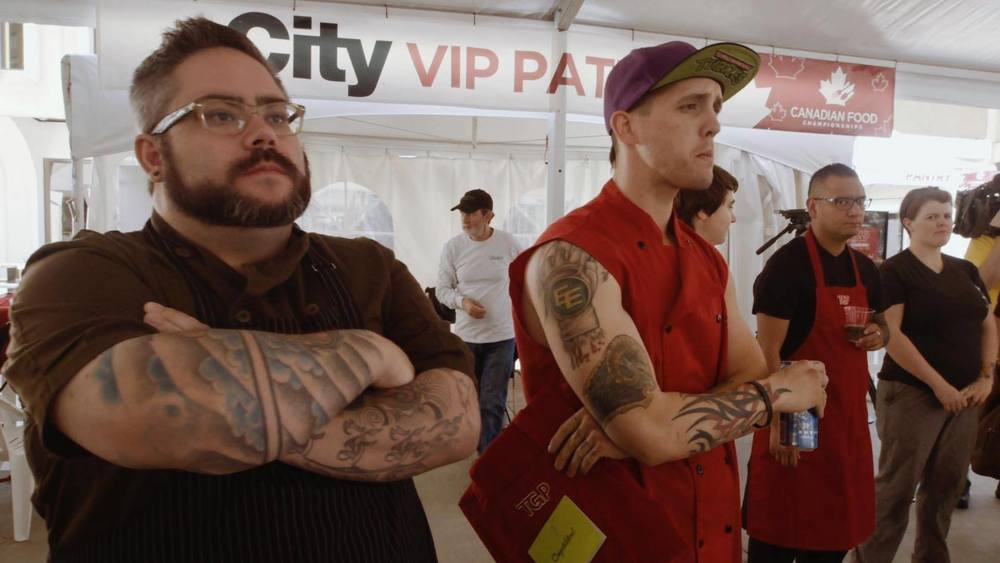 Chef Levi Biddlecomb of  Attila the Hungry Food Truck  gearing up for the competition.