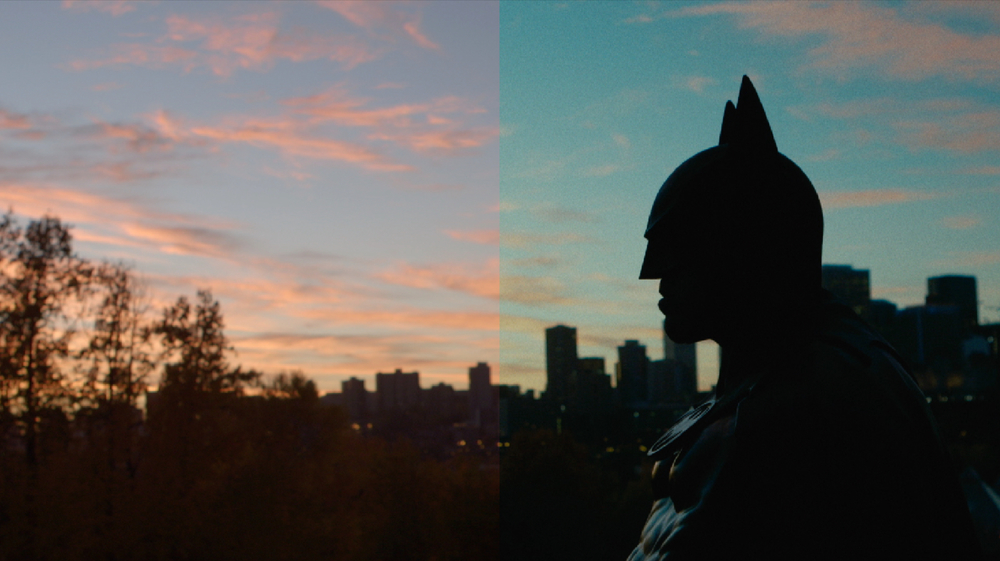 Left: Raw image       Right: Final colour graded image