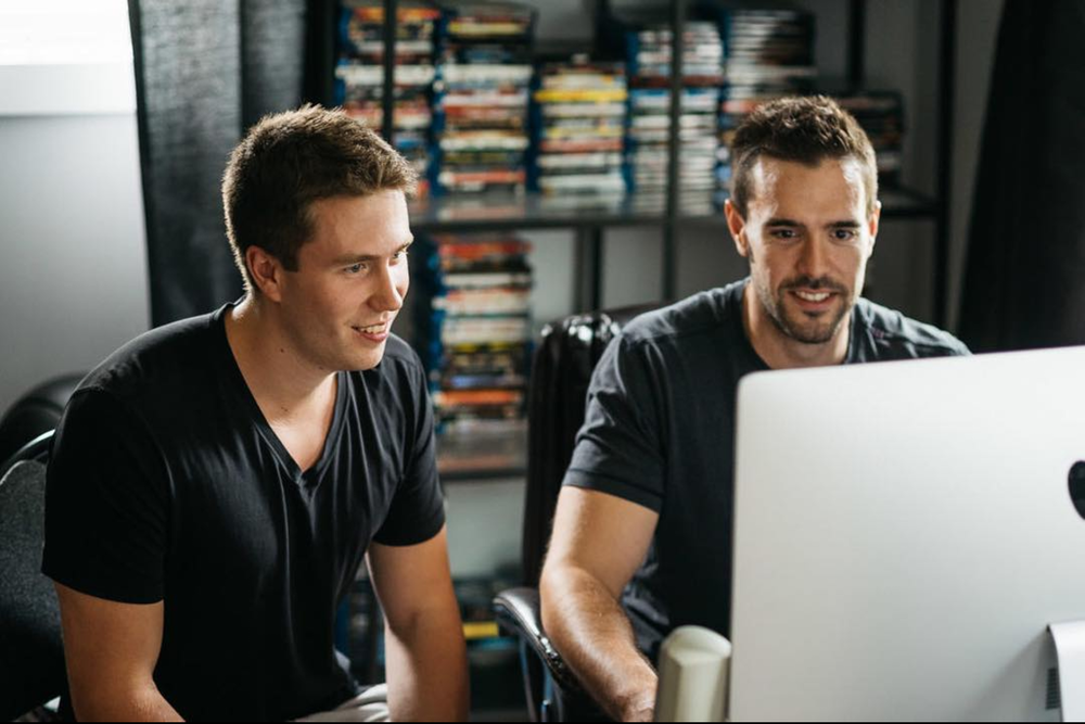 Guerrilla Motion Pictures owners Justin Kueber (left) and Sam Reid (right)  Photo: https://www.boxcubephoto.com/