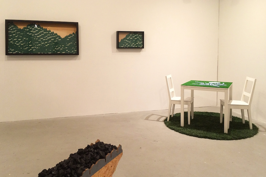 Exurban , 2015 (installation view) Installed at the Ground Floor Gallery, Nashville, Tennessee