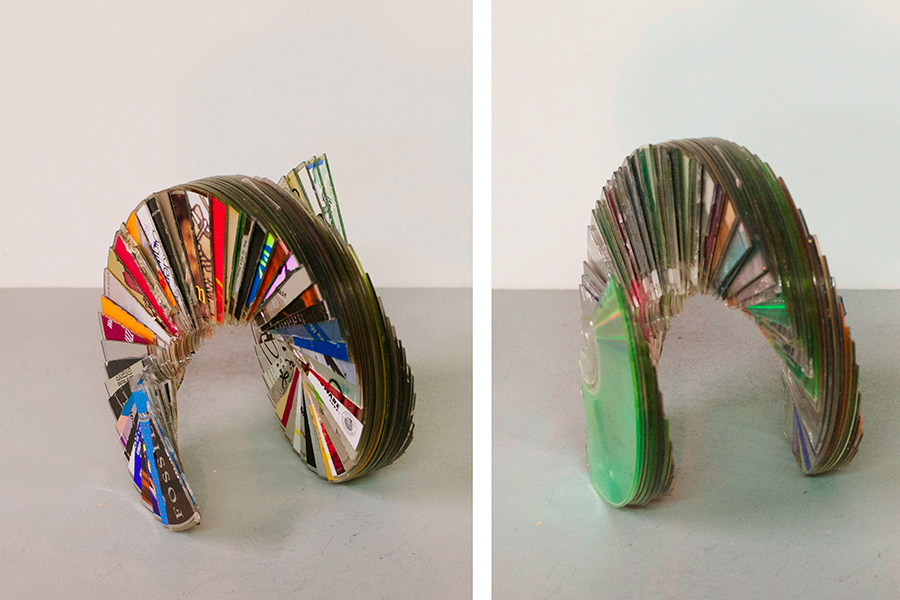 Mini CD Sculptures
